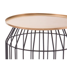 Tray End Table Sm Gold & Black