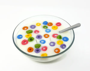 Froot Loop Cereal Bowl Candle