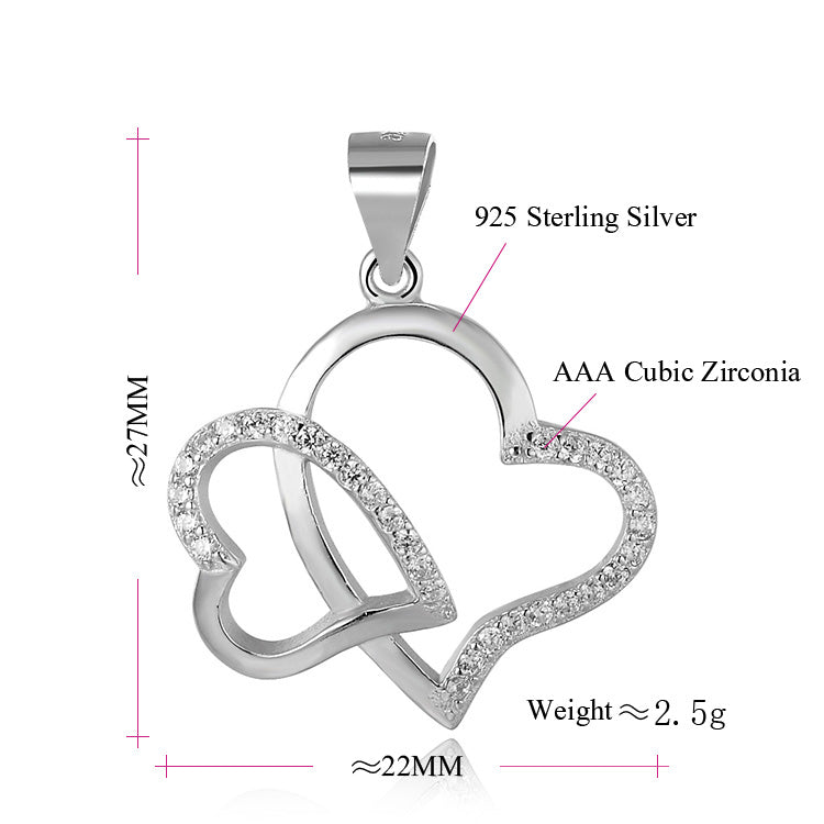 The Yoga Brand Double Heart Sterling silver Necklace