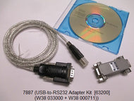 USB-to-RS232 Adapter Kit  [63200/61500/61600/6400/6500]
