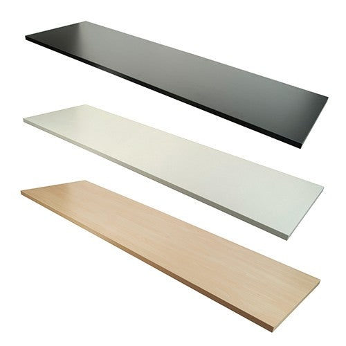 MELAMINE WOOD SHELVING - 5 PACK