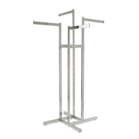 Four Way Straight Arm Clothing Rack