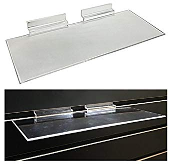 SLATWALL ACRYLIC SHOE SHELF