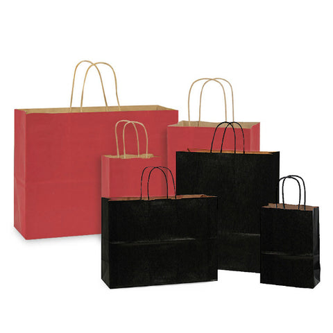 KRAFT PAPER BAGS - BLACK/RED