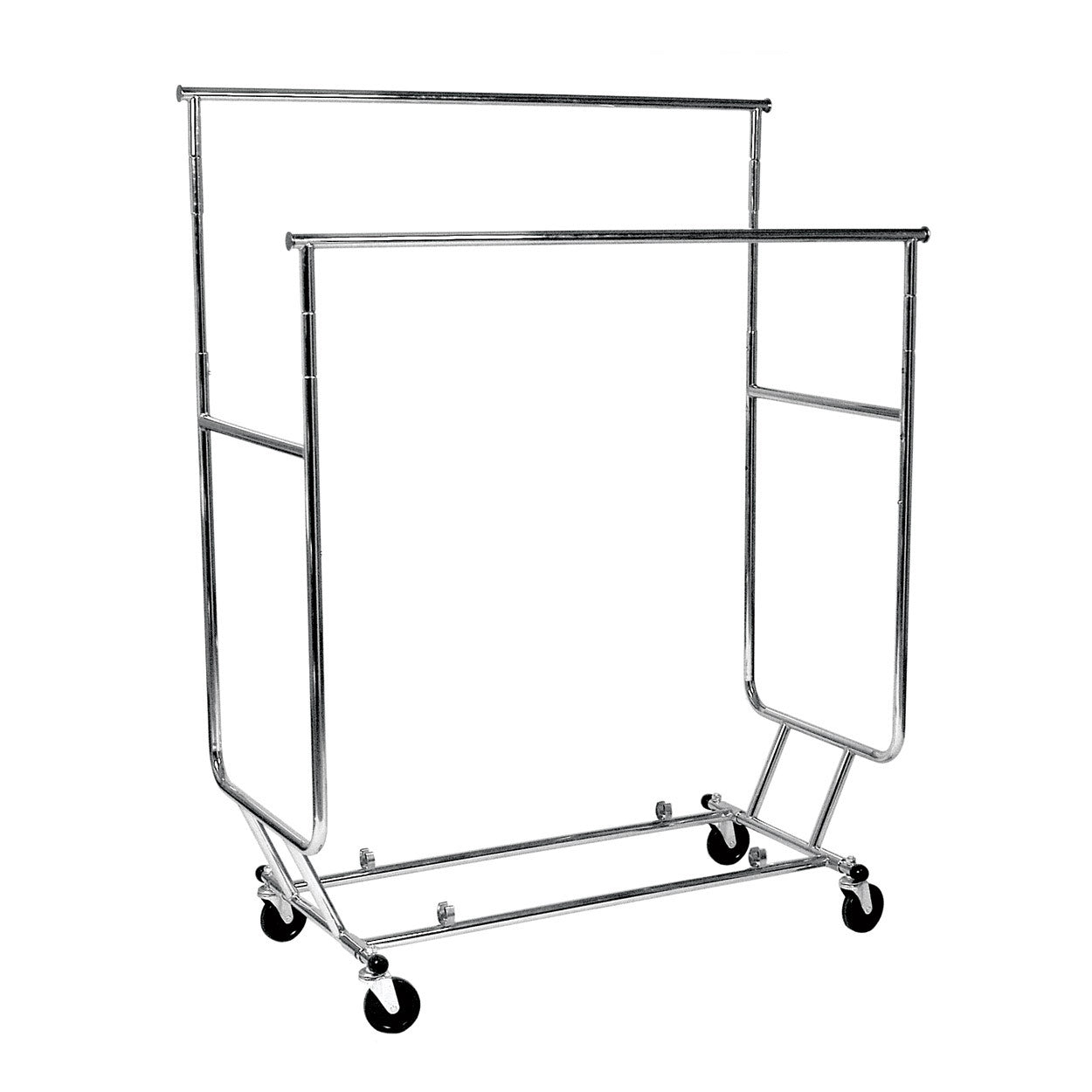 Double Bar Collapsible Clothing Rack