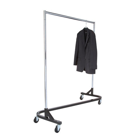 Single Bar Z Clothing Rack