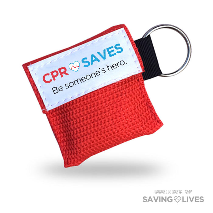 CPR Face Shield Mask Keychain - 10 pk