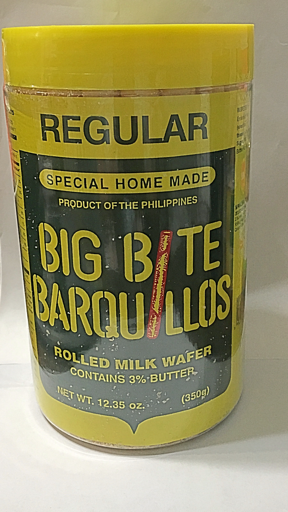 BIG BITE BARQUILLOS (Rolled Milk Wafer)12.35 oz-Love Me Tindera