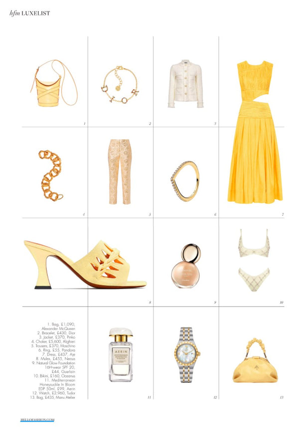 OCEANUS in the Luxe List shopping feature for Hello! Fashion Monthly