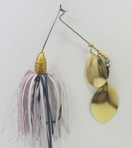 Disco Gold and White Spinnerbait 1/4 oz.