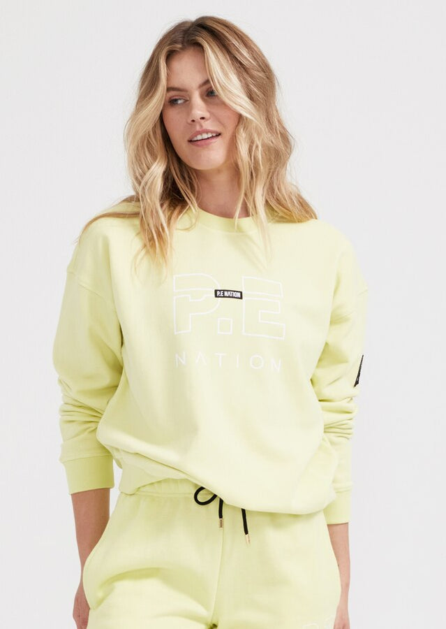 Heads Up Sweat Yellow-Jumpers-PE Nation-XS-UPTOWN LOCAL