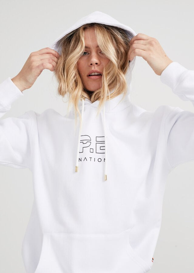 Endurance Hoodie White-Jumpers-PE Nation-XS-UPTOWN LOCAL
