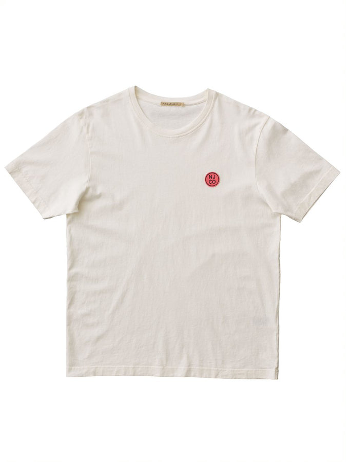 Uno NJCO Circle Tee Offwhite-T-Shirts-Nudie Jeans-UPTOWN LOCAL