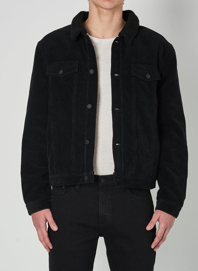 Morrison Sherpa Jacket - Black/Black-Jackets-Rolla's-S-UPTOWN LOCAL