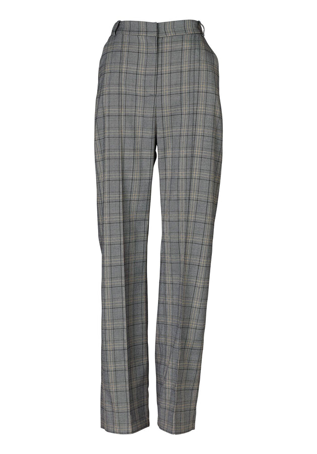 Bramwell Pant Dark Check-Pants-Viktoria and Woods-UPTOWN LOCAL
