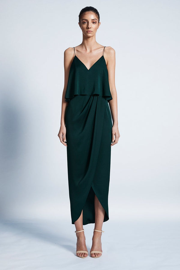 Luxe Cocktail Frill Dress - Click to veiw more colours.-Dresses-Shona Joy-6-Emerald-UPTOWN LOCAL