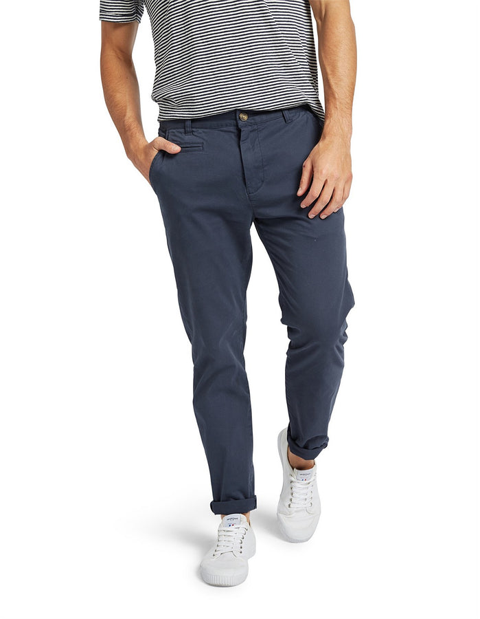 Cooper Chino Navy-Pants-The Academy Brand-UPTOWN LOCAL