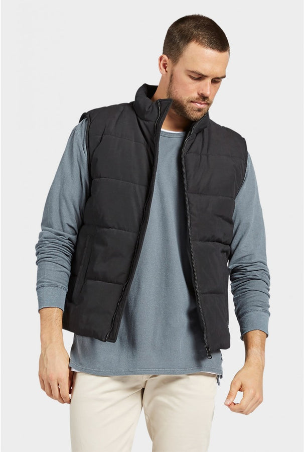 Hawk Vest Black-Jackets-The Academy Brand-S-UPTOWN LOCAL