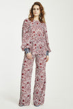 Dolls on Parade Pant Cabernet Print-Pants-Vestire-UPTOWN LOCAL