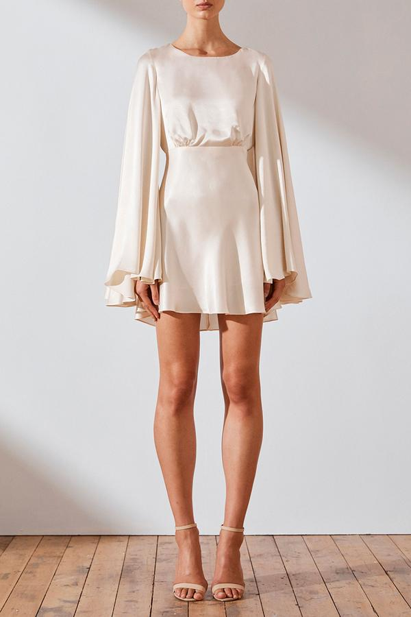 Jefferson Circle Sleeve Backless Mini Dress Cream-Dresses-Shona Joy-6-UPTOWN LOCAL