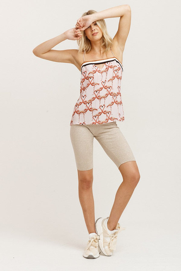 Flamingo Hearts Cami-Tops-Vestire-UPTOWN LOCAL