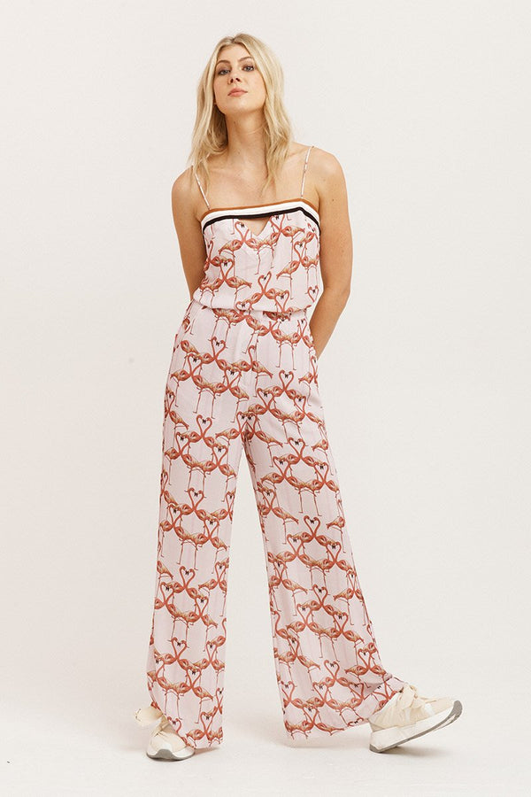 Flamingo Hearts Pants-Pants-Vestire-UPTOWN LOCAL