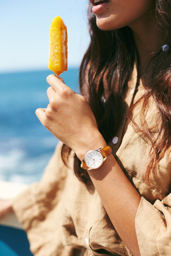 Ivy Girl - Rose Gold / White Dial / Brown Leather-Watch-The Horse-UPTOWN LOCAL