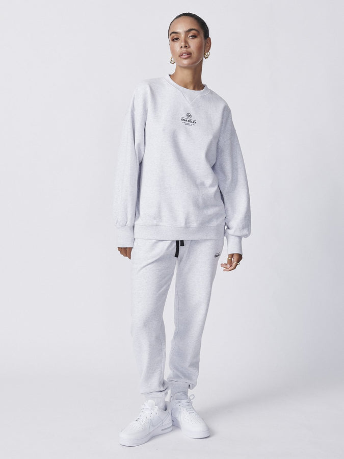 Core Logo Sweatshirt White Marle-Jumpers-ENA PELLY-6-UPTOWN LOCAL