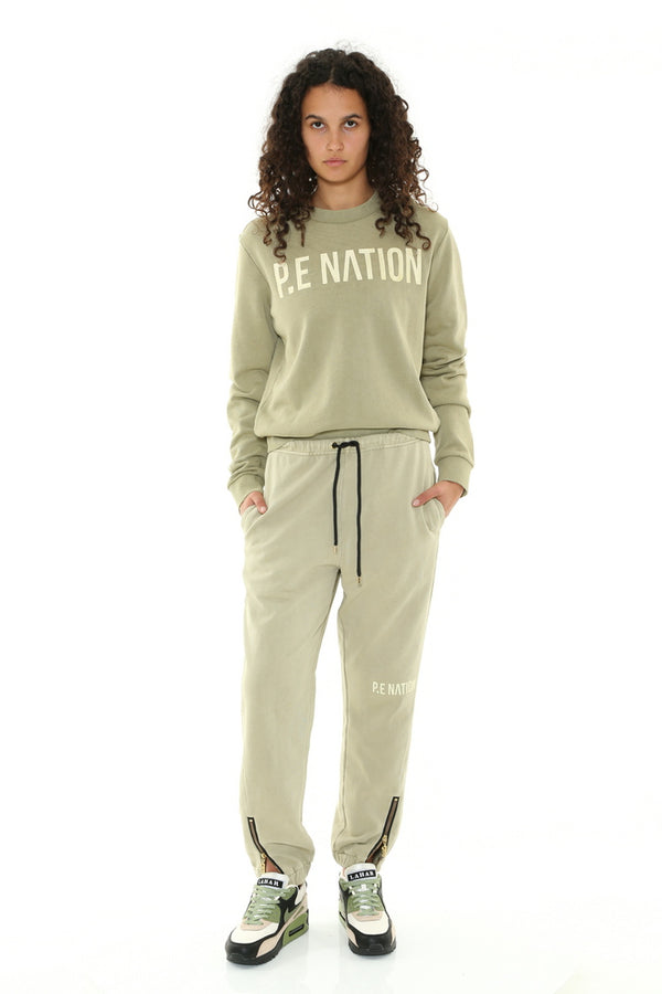 Fortify Sweat Olive Grey-Jumpers-PE Nation-XS-UPTOWN LOCAL