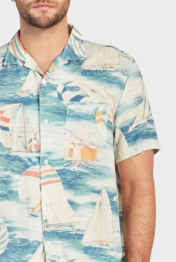 Holiday S/S Shirt - Blue-Shirts-The Academy Brand-S-UPTOWN LOCAL