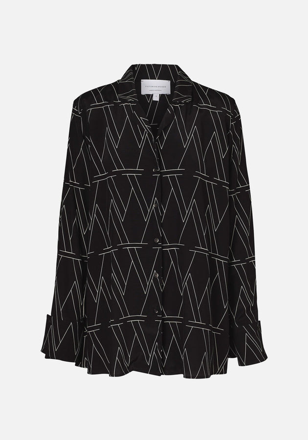 Serenade Shirt W Print-Shirts-Viktoria and Woods-UPTOWN LOCAL