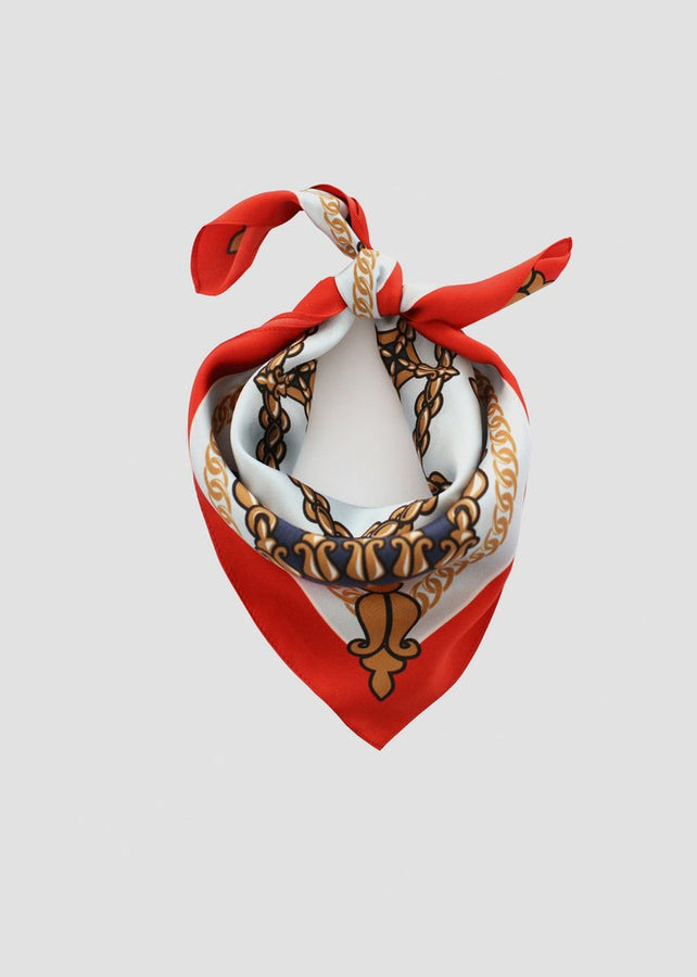 Stevie Silk Scarf-Scarfs-66 The Label-Red/Sky-UPTOWN LOCAL