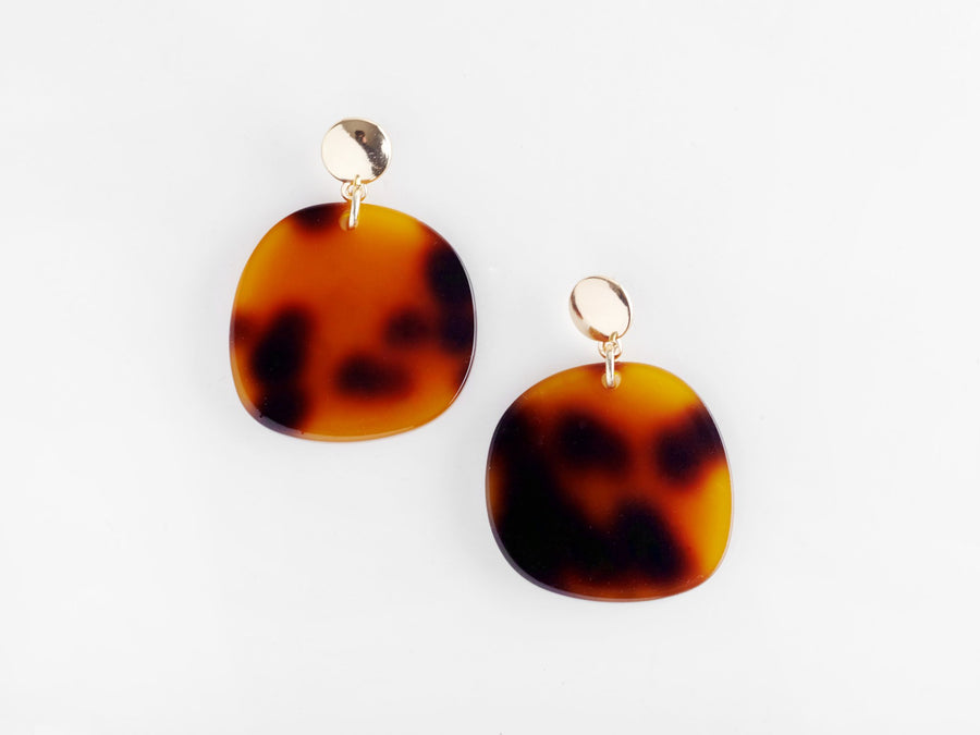 Jeanne Earrings-Earrings-Valet-Tortoiseshell-UPTOWN LOCAL