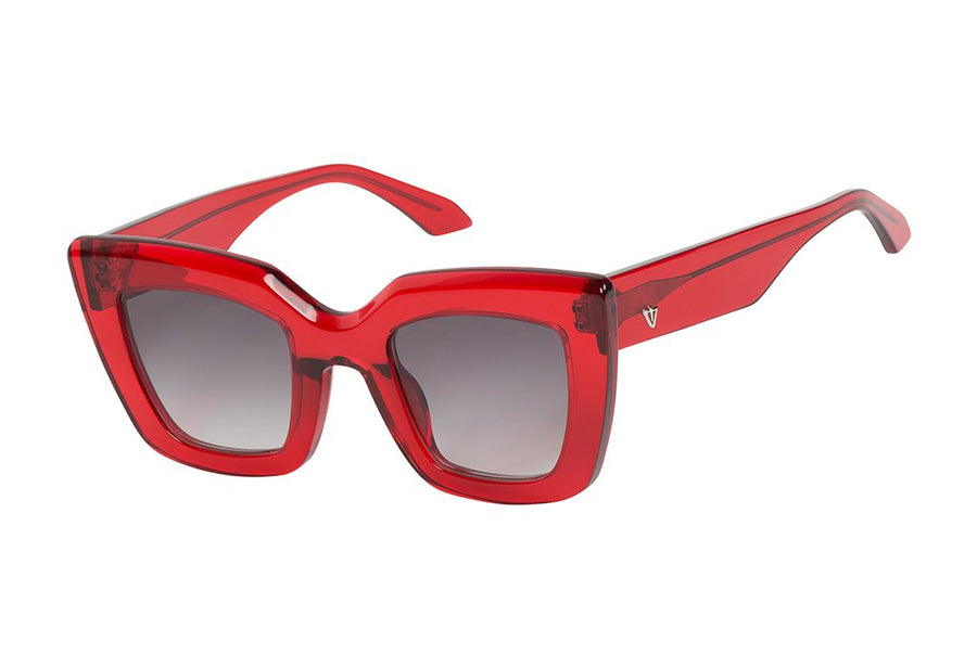Brigada Transparent Red/ Black Gradient Lens