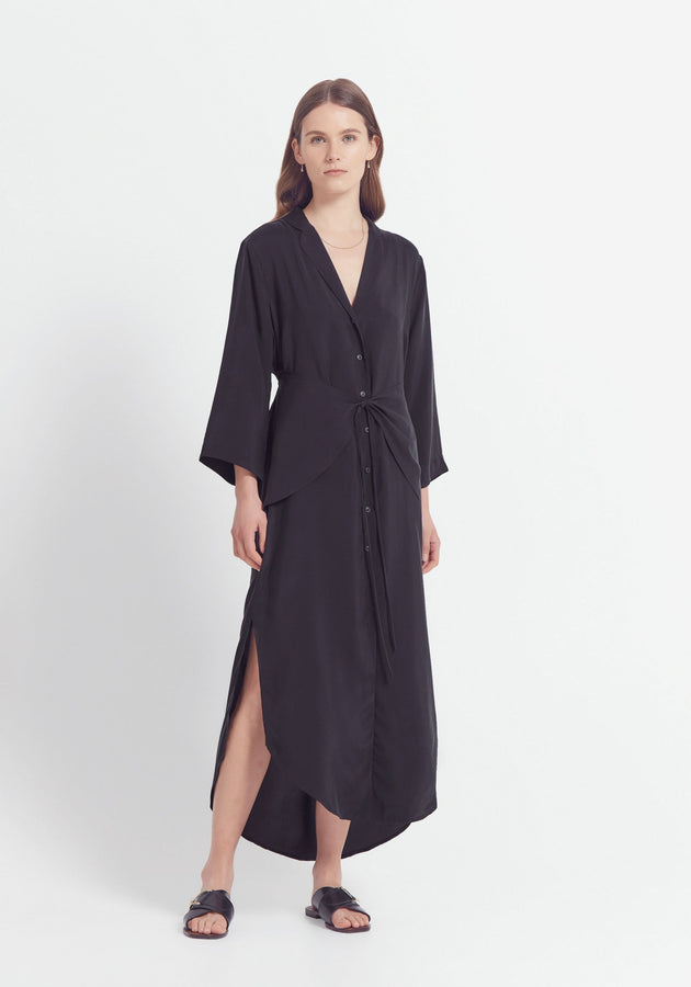 Mandolin Shirt Dress Black-Dresses-Viktoria and Woods-0-UPTOWN LOCAL