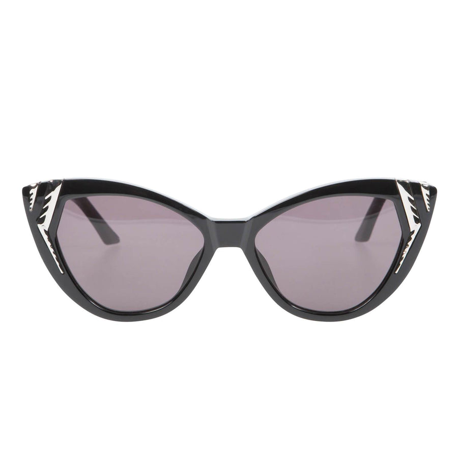 Rivington Gloss Black w Silver Metal Trim/Black Lens-Sunglasses-Valley-UPTOWN LOCAL