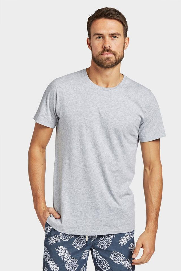 Acad Basic Crew Tee Grey Marle-T-Shirts-The Academy Brand-UPTOWN LOCAL