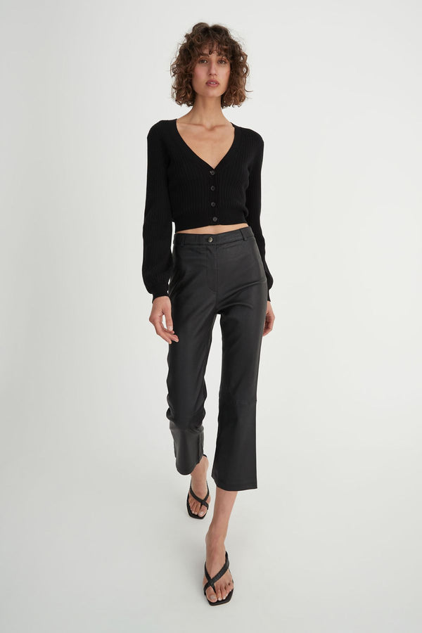 Bethany Cardi Black-Knitwear-Hansen and Gretel-XS-UPTOWN LOCAL