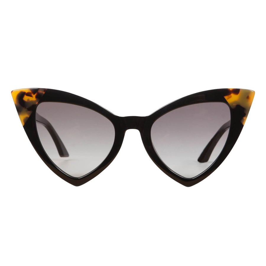 Jennie Vee Gloss Black w Tort Corners/Black Gradient Lens-Sunglasses-Valley-UPTOWN LOCAL