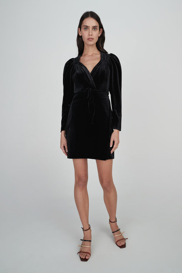 Celia Velvet Dress - Black-Dresses-Hansen and Gretel-XS-UPTOWN LOCAL