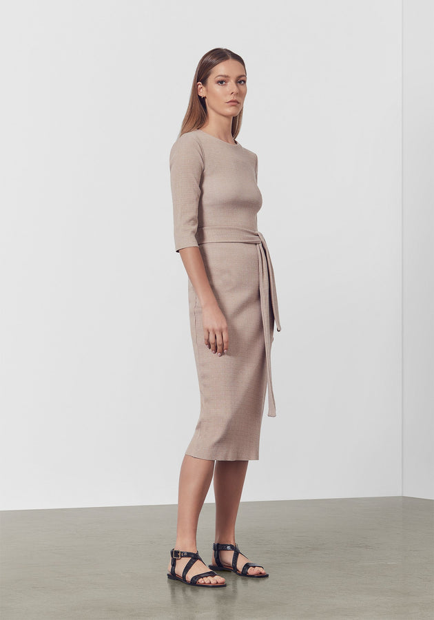 Chappelle Dress Smoke Marl-Dresses-Viktoria and Woods-0-UPTOWN LOCAL