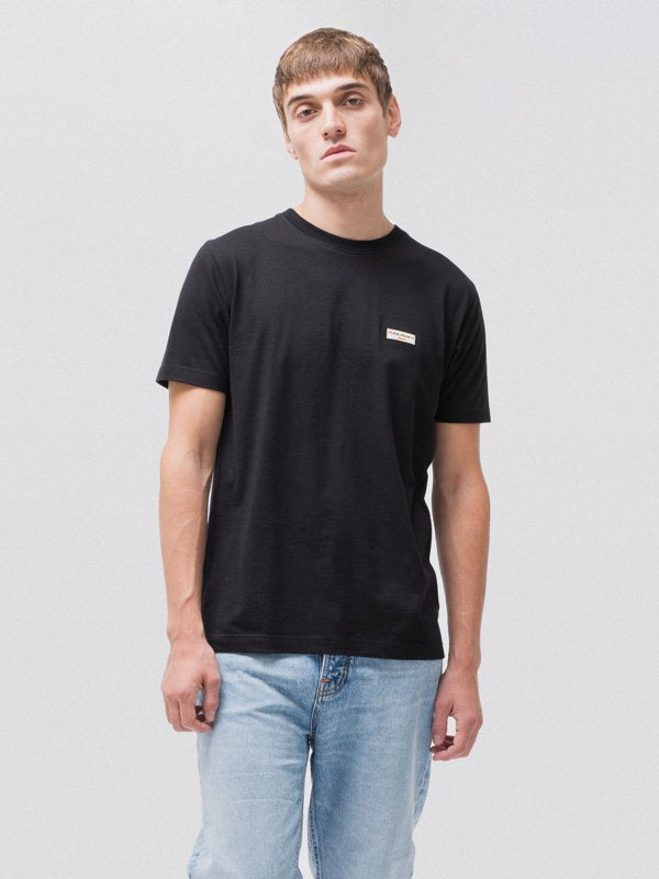 Daniel Logo Tee Black-T-Shirts-Nudie Jeans-UPTOWN LOCAL