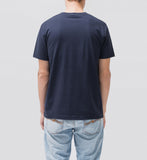 Daniel Logo Tee Midnight-T-Shirts-Nudie Jeans-UPTOWN LOCAL