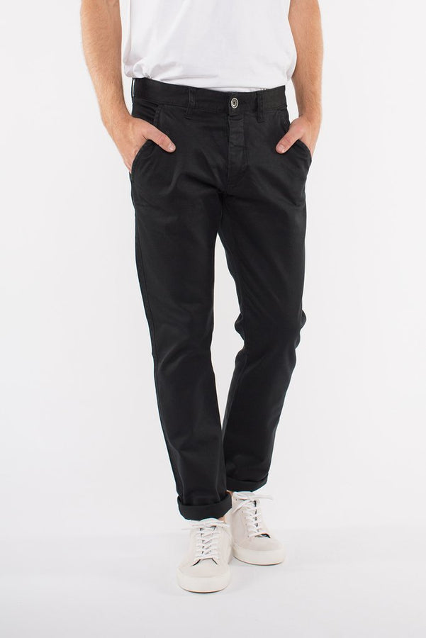 Donk Chino Black-Pants-Dr. Denim-UPTOWN LOCAL