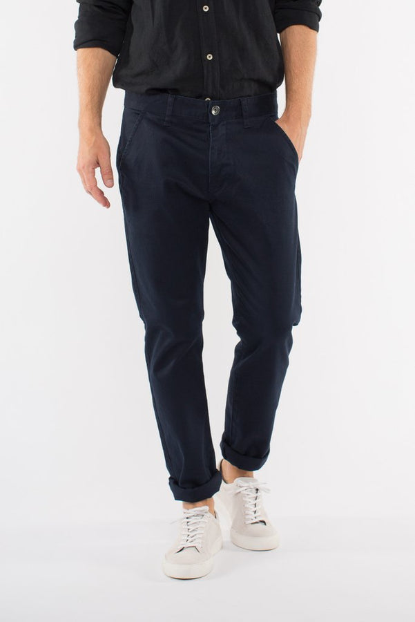 Donk Chino Deep Blue-Pants-Dr. Denim-UPTOWN LOCAL