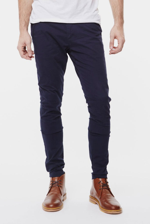 Heywood Chino Deep Blue-Pants-Dr. Denim-UPTOWN LOCAL