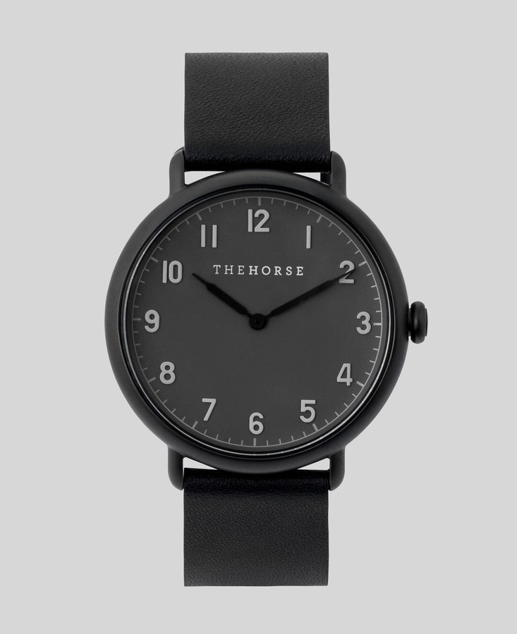 The Heritage Matte Black Case / Dark Grey Dial / Black Band-Watch-The Horse-UPTOWN LOCAL