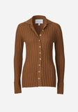 Gemini Rib Cardi Toffee-Knitwear-Viktoria and Woods-0-UPTOWN LOCAL
