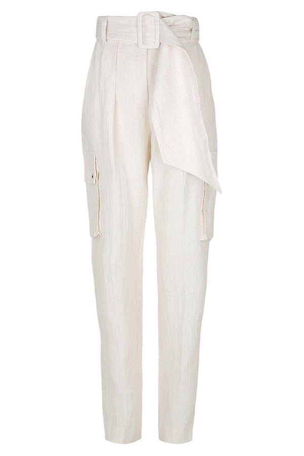 Garcia Tailored Cargo Pant Ecru-Pants-Shona Joy-UPTOWN LOCAL