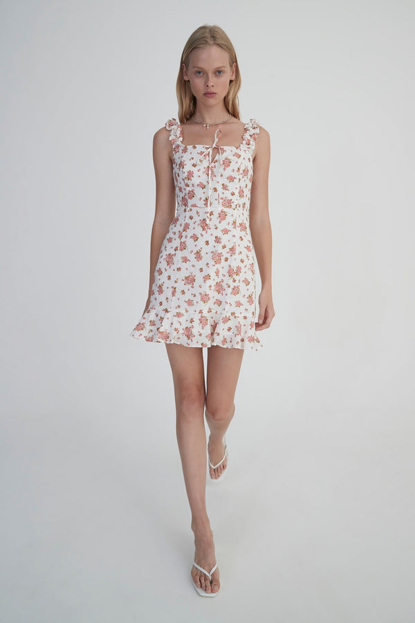 Lourdes Dress Ivory Floral-Dresses-Hansen and Gretel-XS-UPTOWN LOCAL